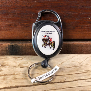 Abbey Medieval Festival retractable key ring