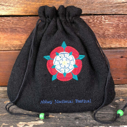 Embroidered Wool Bag - Tudor Rose