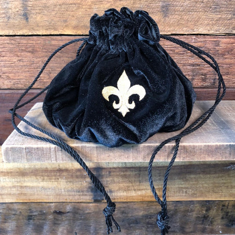 Velvet Drawstring Bag - Black