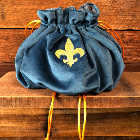 Velvet drawstring bag - Light blue
