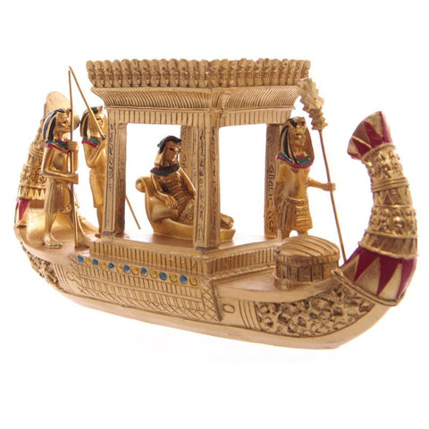 Egyptian Canopy Boat Gold