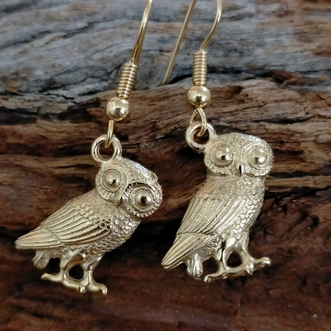 Roman Owl Earrings