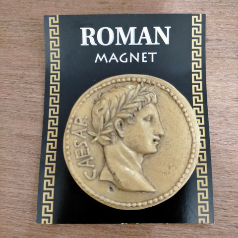 Roman Coin Gold Resin Magnet