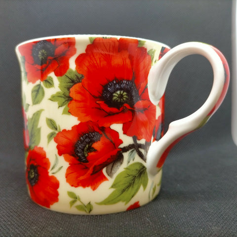 "'Red Poppy"" Fine tea - coffee drinking mug"