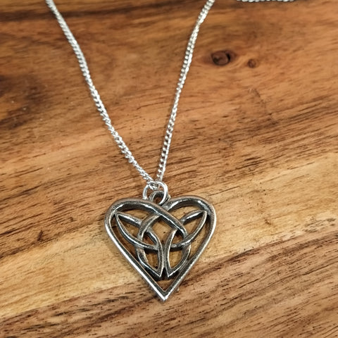 Celtic Heart Pendant Amulet