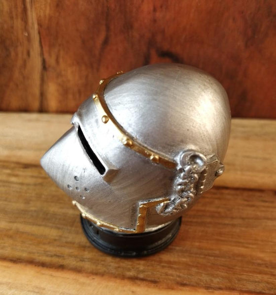 Bascinet Knight's Helmet Miniature Figurine