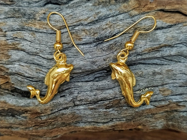 Roman Dolphin Earrings