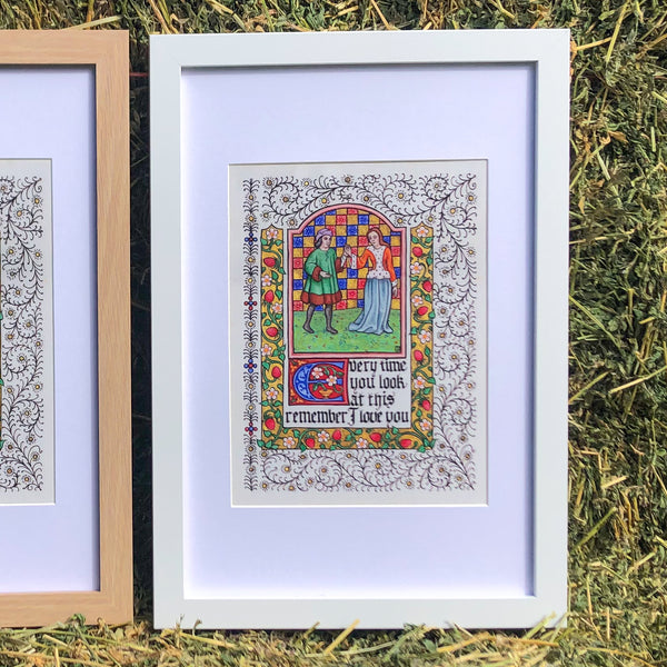 Illuminated 'I Love You' Framed Print + BONUS Museum Entry Gift Pack