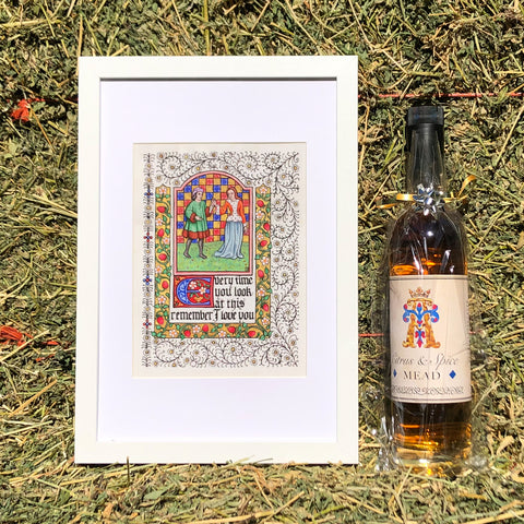 Illuminated 'I Love You' Print + Citrus & Spice Mead + BONUS Museum Tickets Gift Pack