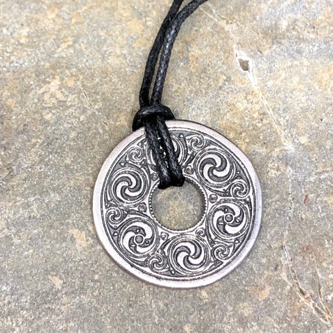 Celtic Pewter Disc Pendant