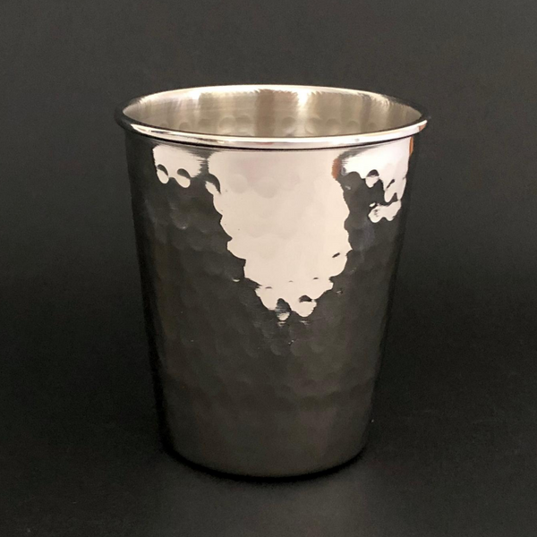 Hand Crafted Tumbler with Hammered Finish