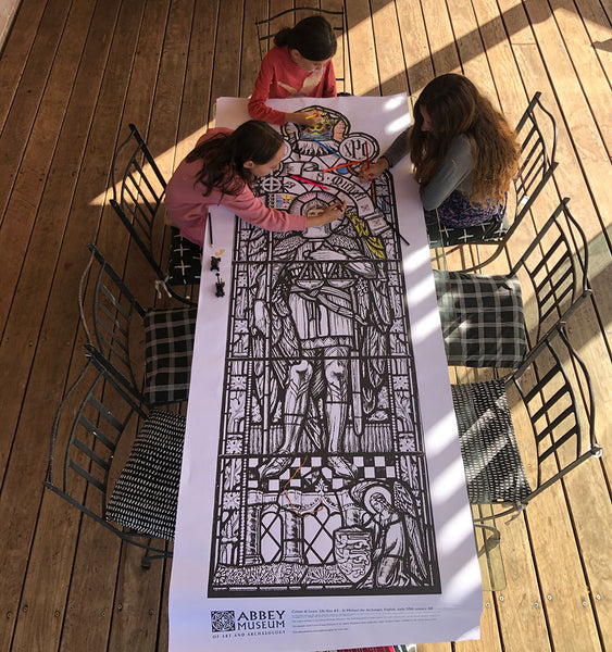 Life-size Stained Glass Colour-in Kit