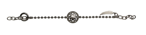Dreamcatcher Armband Flower Black TFB02BK