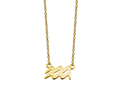 Zodiac Waterman Ketting Gold-plated ZN002G Jwls4u