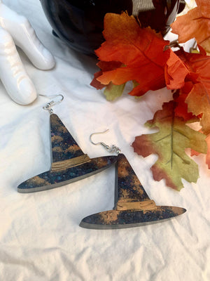 Halloween Glitter Witch Earrings