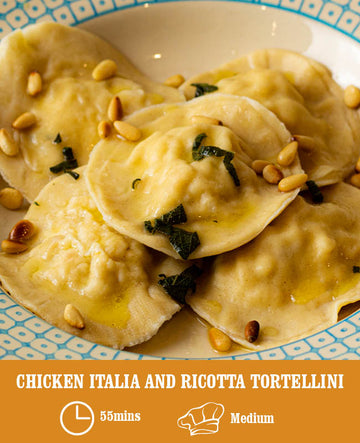 Chicken Italia and Ricotta Tortellini