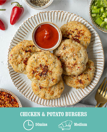 Chicken & Potato Burgers