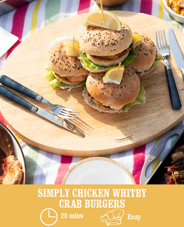Simply Chicken Whitby Crab Burgers