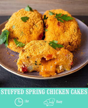 Stuffed Spring Chicken Cakes