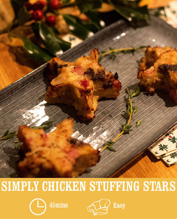 Simply Chicken Stuffing Stars