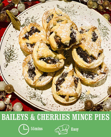 Baileys and Cherries Mince Pies