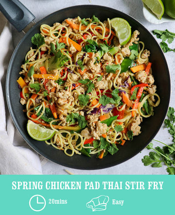 Spring Chicken Pad Thai Stir Fry