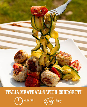 Italia meatballs with Courgetti