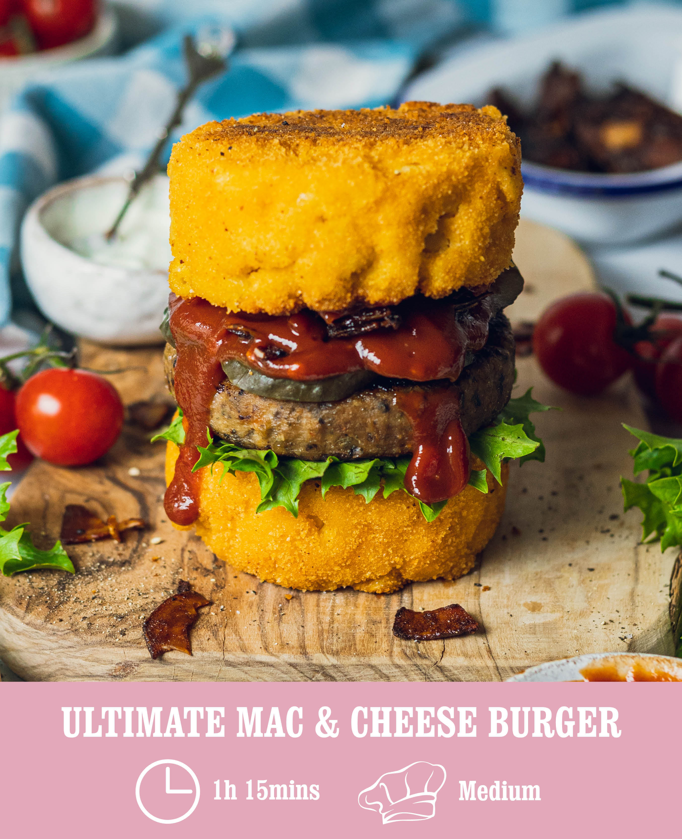 Ultimate Mac Cheese burger
