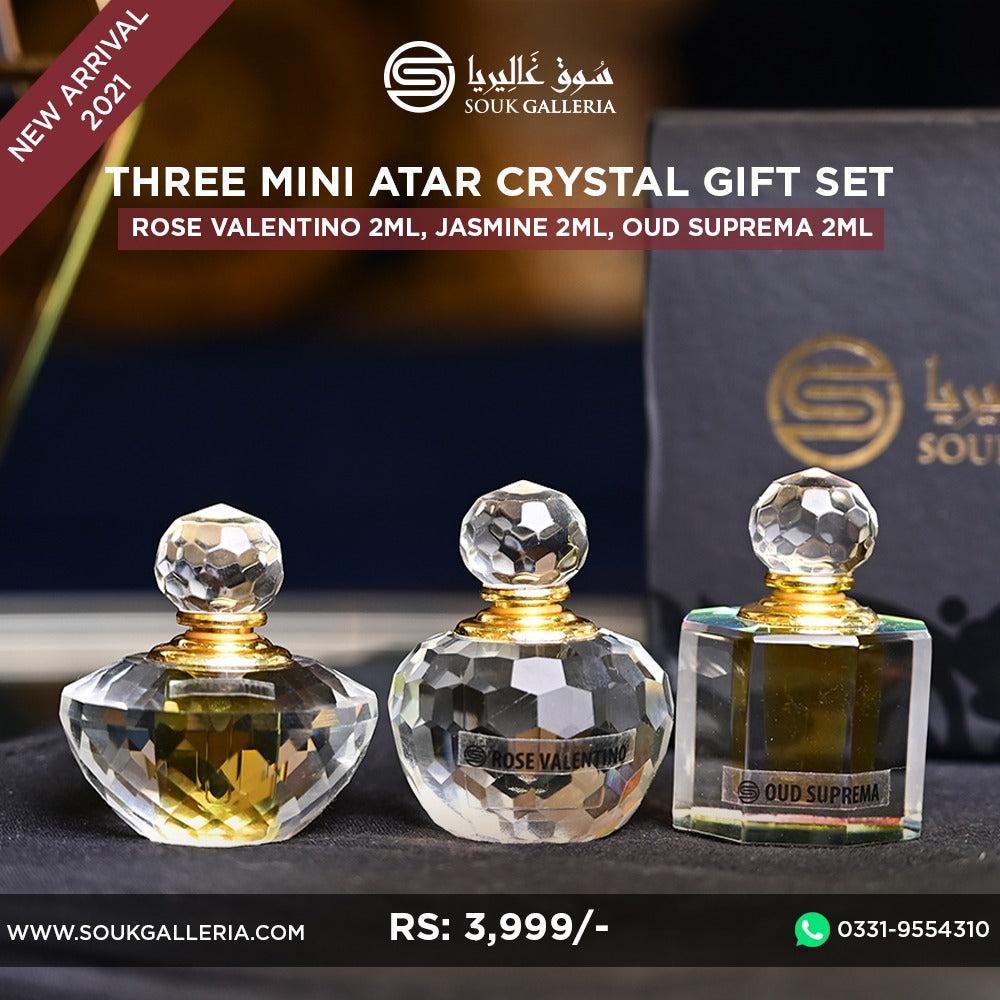 Three Mini Atar Crystal Gift Set