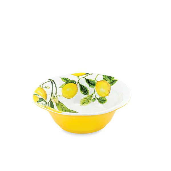 Melamine lemon basil bowl small