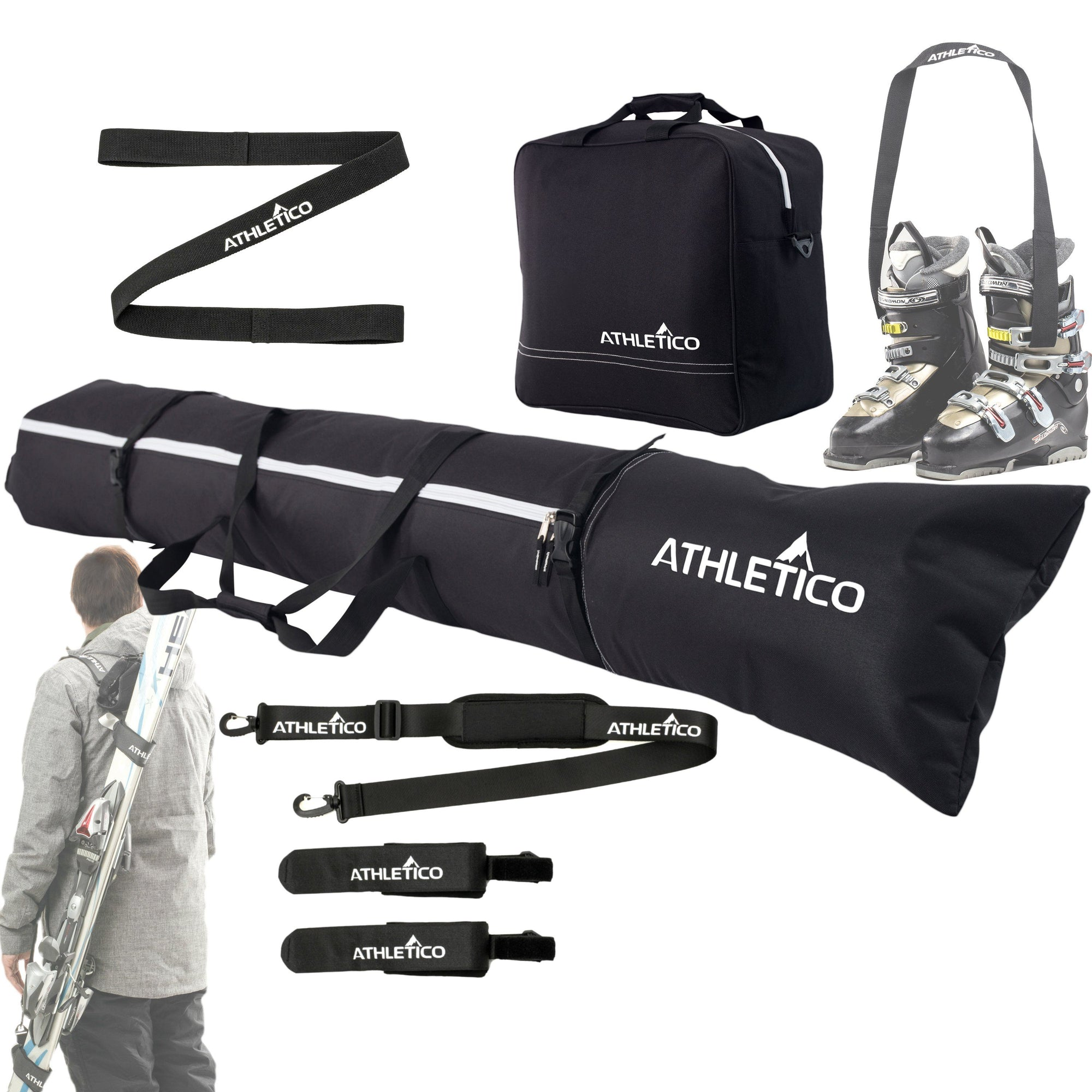 Athletico Four Piece Ski and Boot Bag Combo - Athletico