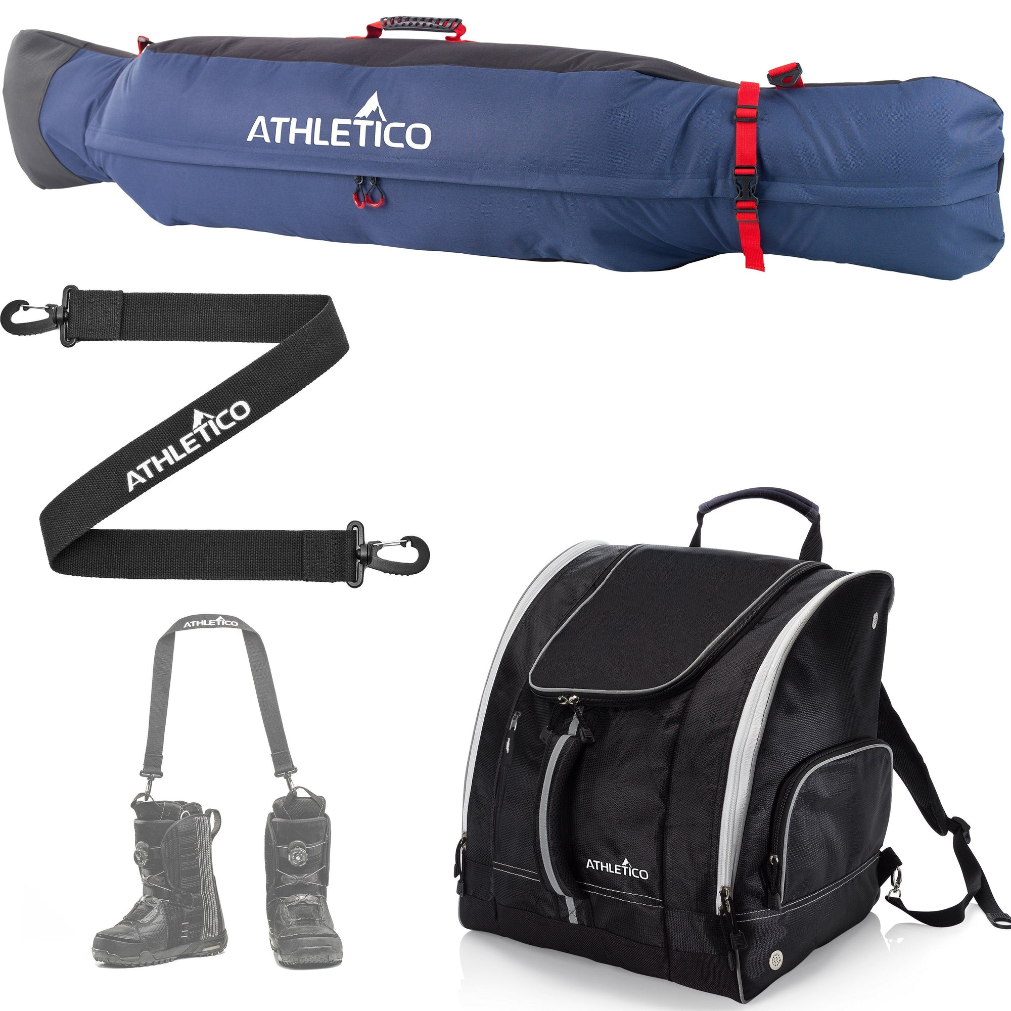 Athletico Freestyle Padded Snowboard Bag Bundle - Athletico