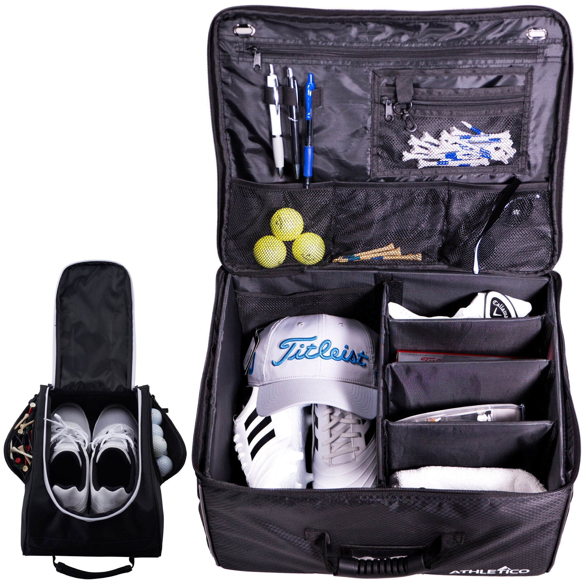 Athletico Golf Trunk Organizer + Shoe Bag - Athletico