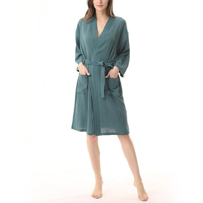 100% Cotton Super Cozy Gauze Robe