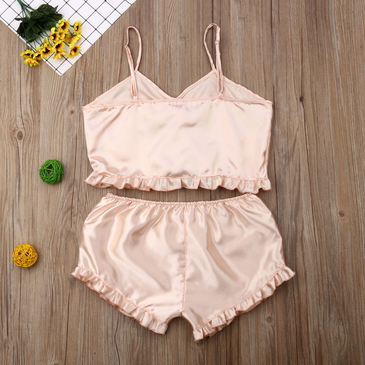 Striped Satin Cami PJ Set