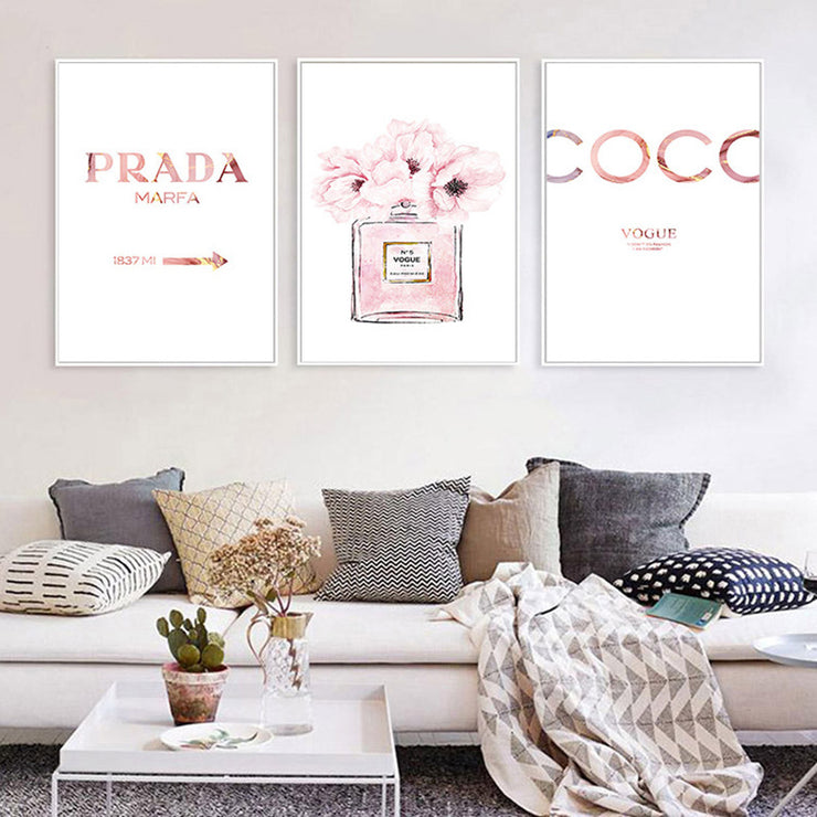 Perfume Bottle Art Prints and Poster For Girls Room Modern Decor