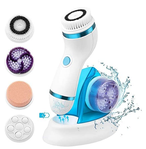 4 In 1 Facial Cleansing Brush Rechargeable Electric