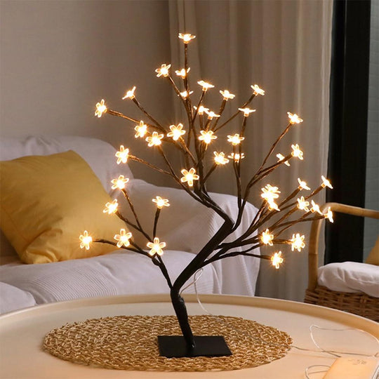48 LED Cherry Plum Blossom Tree Night Light