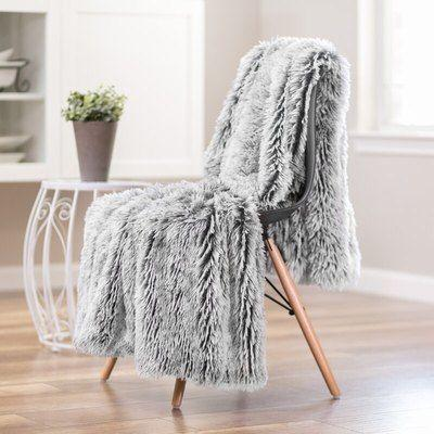 Modern Shaggy Blanket Faux Fur Throw Blanket