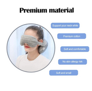 2-in-1 Travel Pillow with Eye Mask