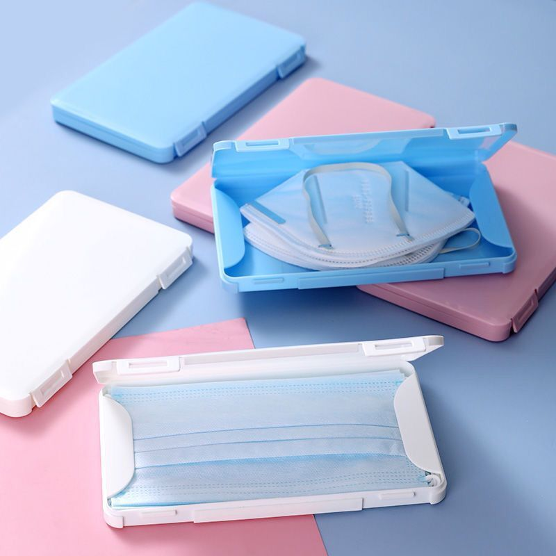 1pc Portable Face Cover Storage Box