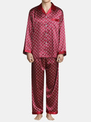 Smooth Silk Lepal Collar Pajamas Set