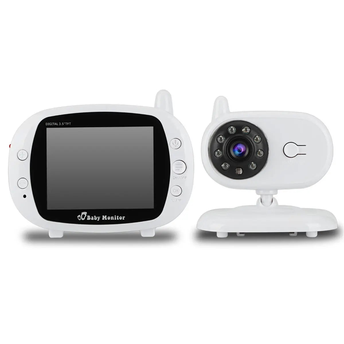 3.5 inch Baby Monitor 2.4GHz Video LCD Digital Camera Night Vision Temperature Monitoring Monitors