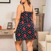 Polka Dot Floral Pattern Fashion Comfy Sleepwear
