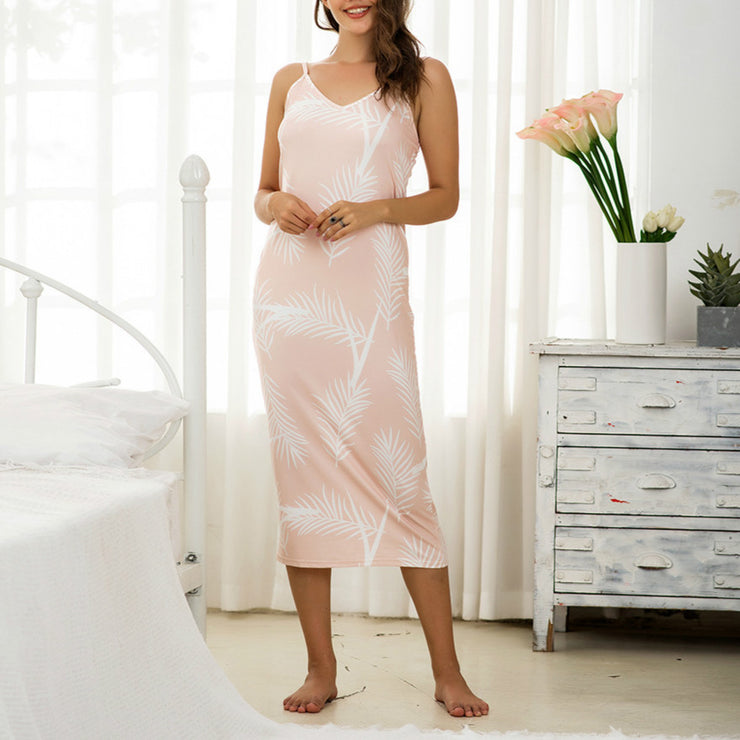 Womens Sleeveless Long Nightgown