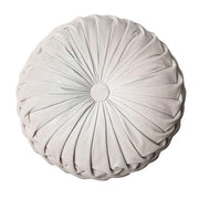 Pleated Velvet Round Pillow Cushions