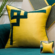 Emerald Luxurious Geometric Throw Pillow