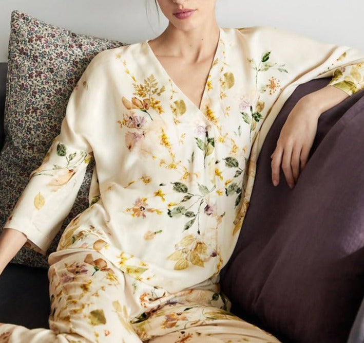 Rose Printed Pajamas Sets