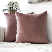 Plain Velvet Throw Pillow with Insert