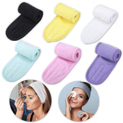 Facial Spa Headband with Magic Tape for Washing, Makeup, Shower